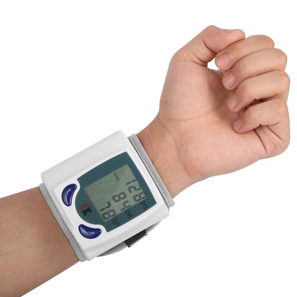 Health Care Automatic Digital Wrist Blood Pressure Monitor for Measuring Heart Beat Pulse Rate DIA Tonometer Sphygmomanometer