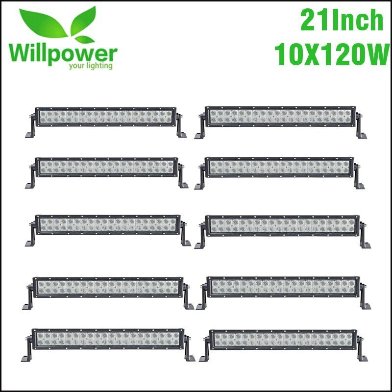10PCS 21Inch 120W Combo Beam LED Light Bar for Work Driving Boat Car Truck 4x4 SUV ATV Off Road Fog Lamp Car Light