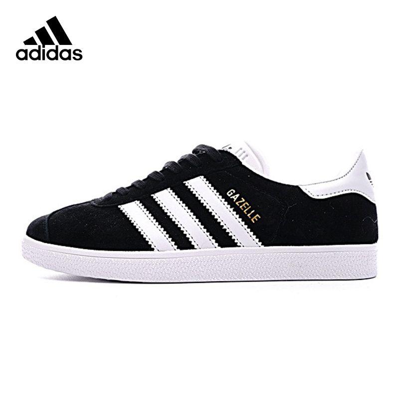 ADIDAS Clover GAZELLE Men's and Women's Walking Shoes , Black, Breathable Non-slip Wear-resistant Lightweight BB5476