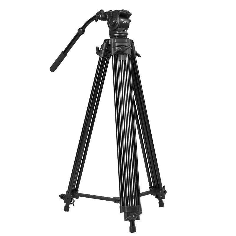 WF718 Professional Video Tripod DSLR Camera Heavy Duty Tripod with Fluid Pan Head 1.8m high Load 8kg WF-718 better than JY0508