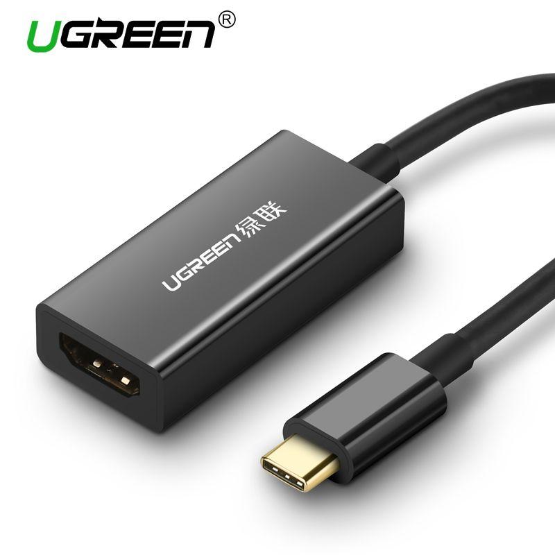 Ugreen USB Typ C Hdmi-kabel 4 Karat Ultra HD USB C HDMI Stecker auf Buchse für MacBook Samsung Galaxy S8 Huawei Taube 10 Pro USB-C HDMI