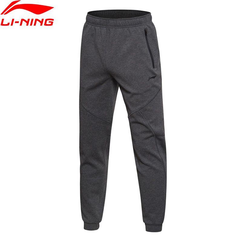 Li-Ning Men Training Series Sweat Pants WARM AT Regular Fit 100% Cotton LiNing Comfort Sports Pants AKLM701 MKY327