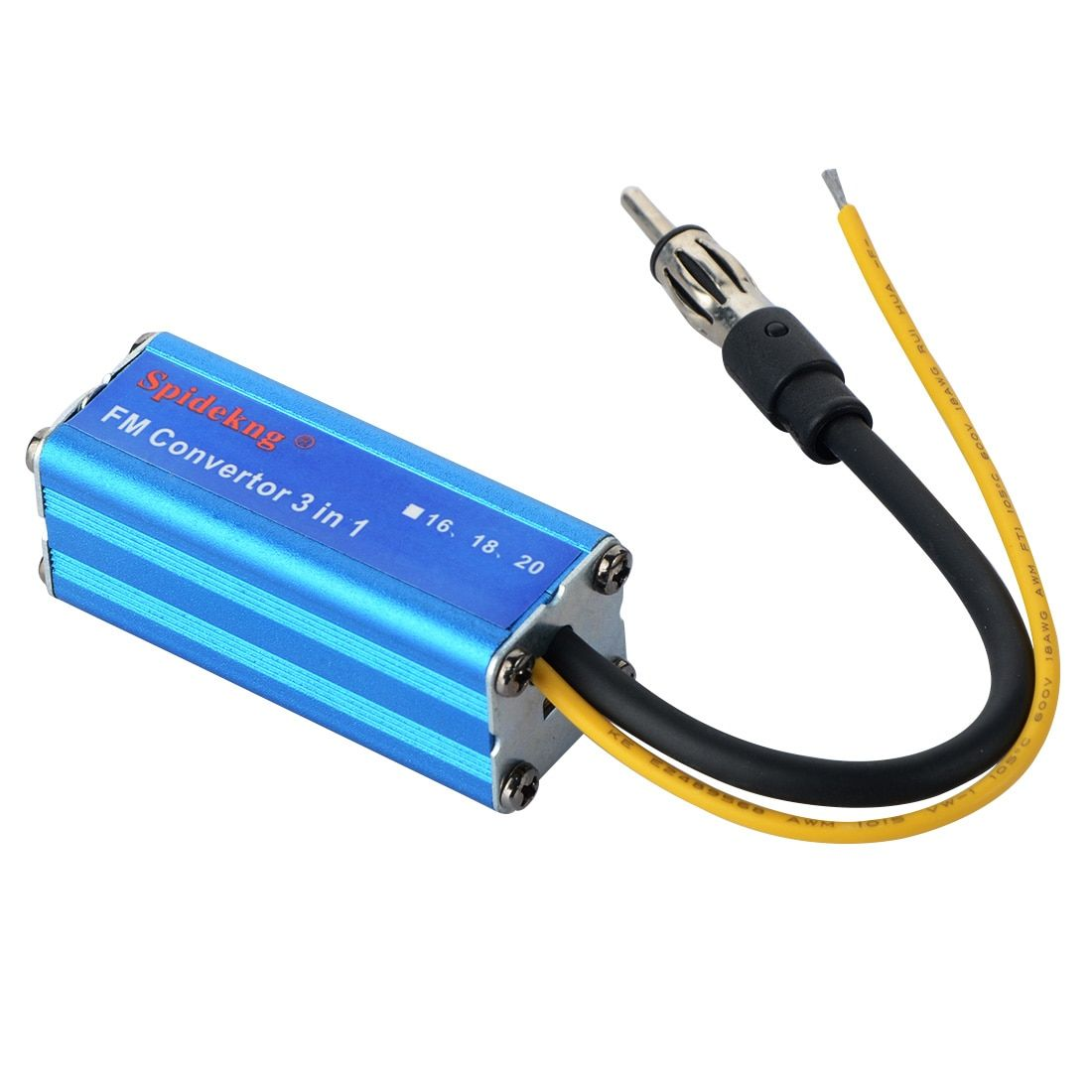 Sale DC 12V 16MHz Car Auto Automobile Blue Aluminum MP3 FM Convertor Adapter Free Shipping  Drop shipping Durable