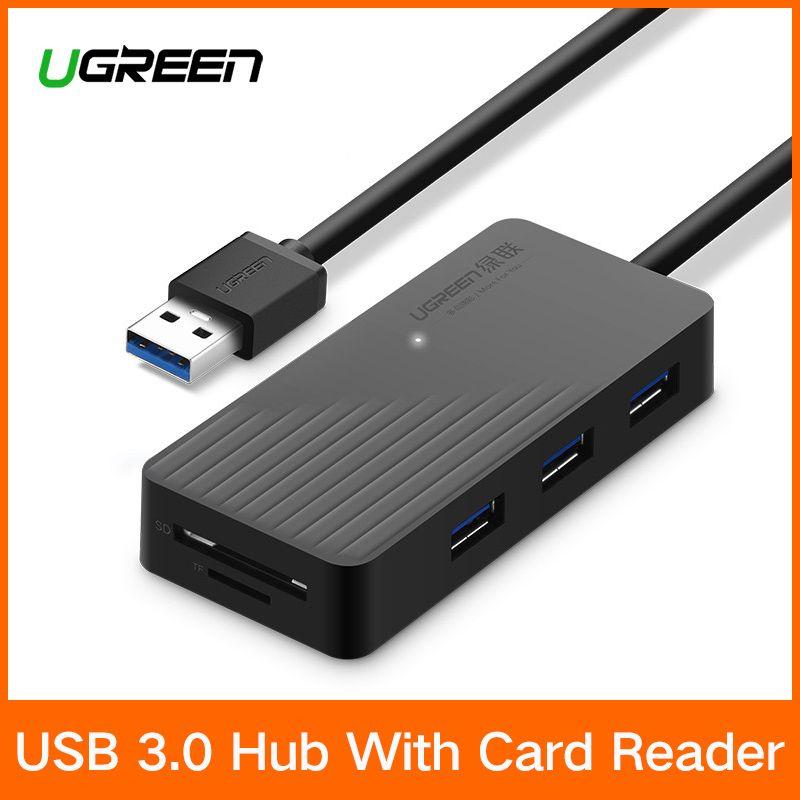 Ugreen 5-in-1 USB HUB mit Kartenleser 3 Port USB 3.0 HUB Splitter Micro USB Power Port für iMac Laptop Zubehör USB HUB