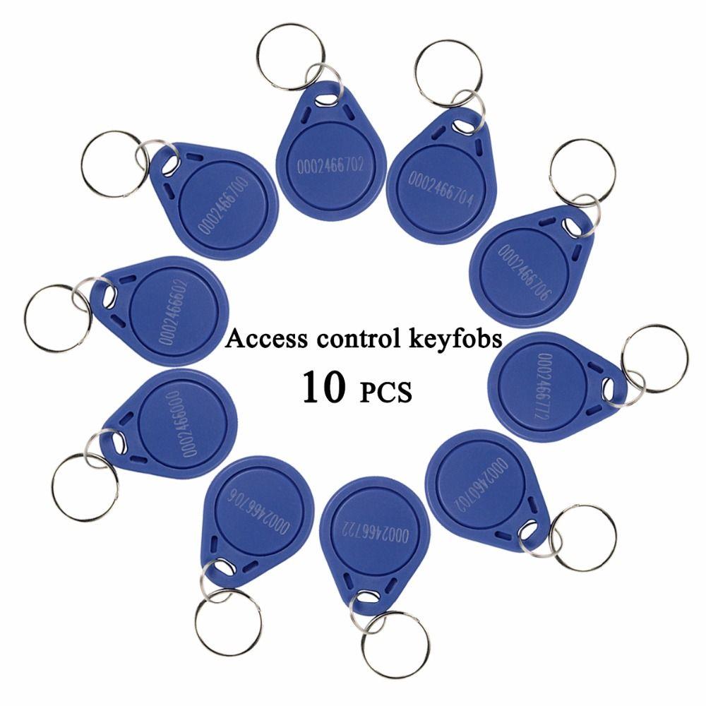 10 stücke RFID Keyfobs 125 KHz Nähe Identifikation-schein Keyfobs für Tür Zugangskontrolle F1661A