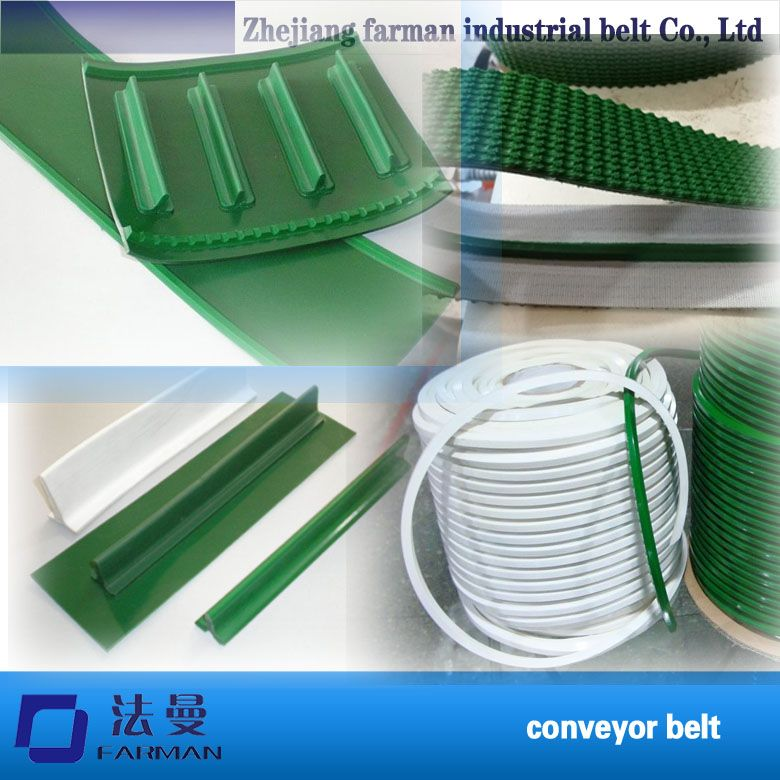 Anti-skid Pvc Conveyor Belt With Guide Strip