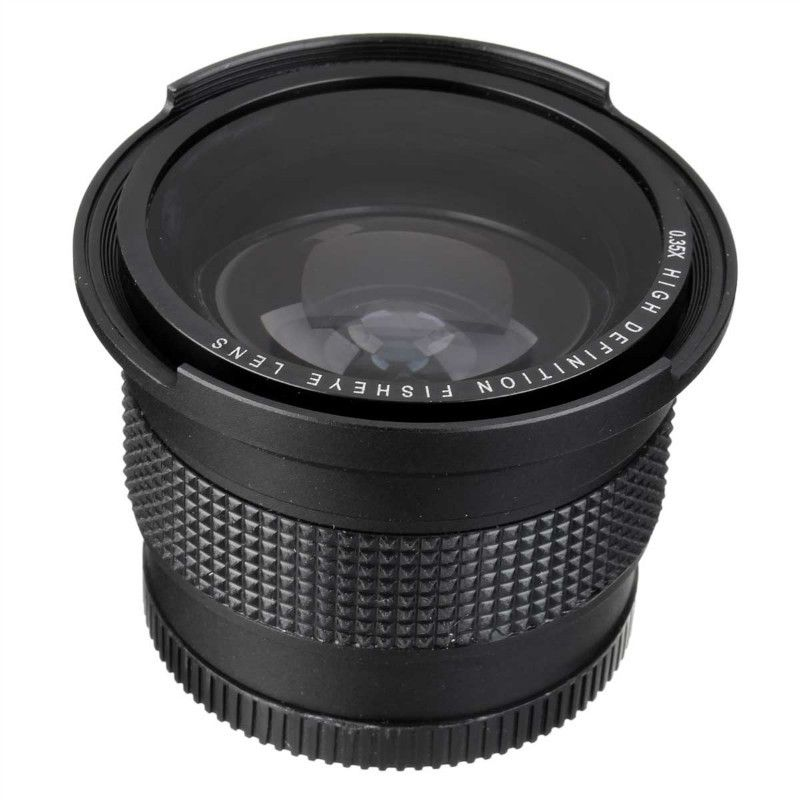 Lightdow 52 MM 0.35x Fisheye Super Grand Angle + Macro Objectif pour Nikon D7100 D5200 D5100 D3100 D90 D60 avec 18-55mm Objectif