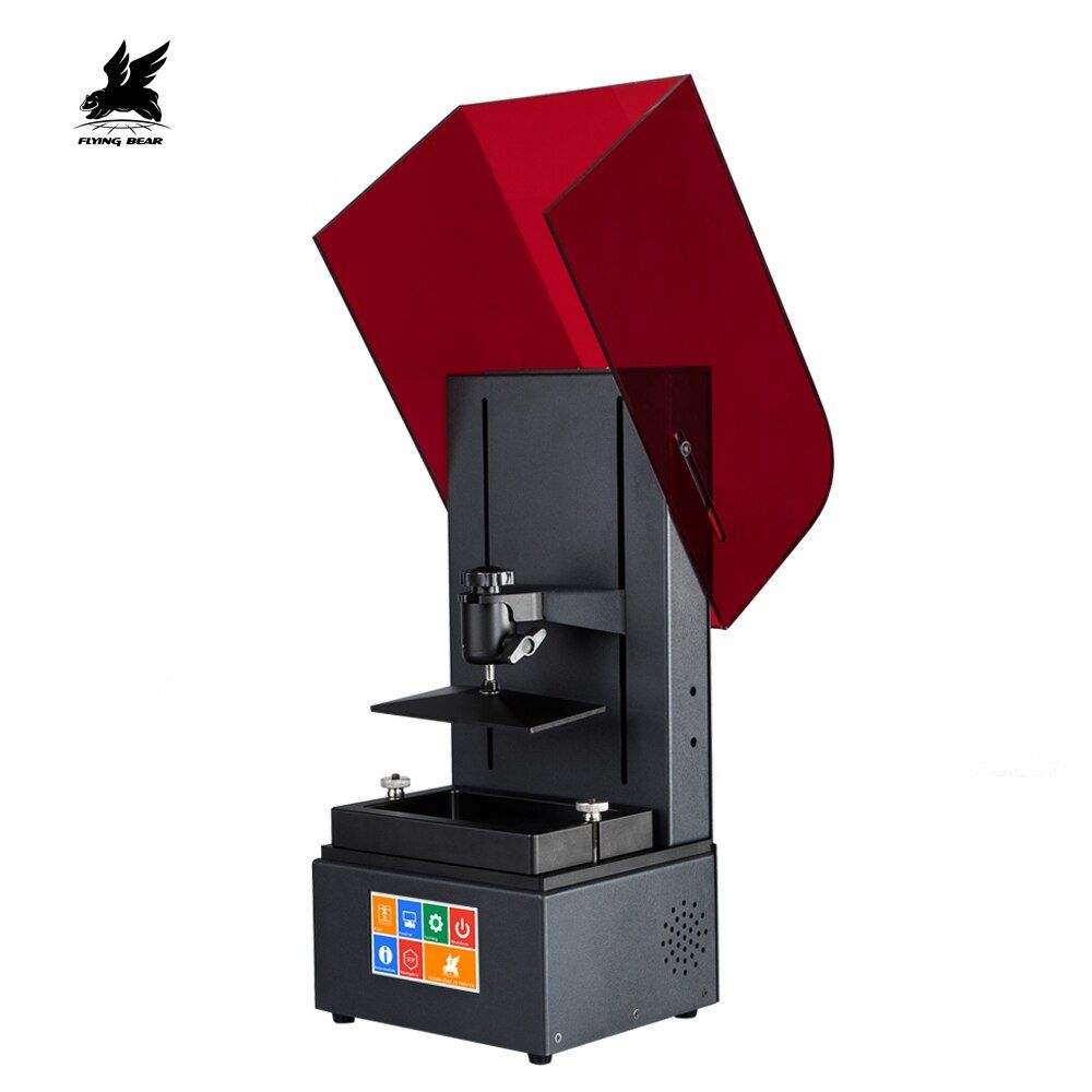 Newest Flyingbear Color Touch Screen 2560*1440 LCD Shine UV Resin DLP 3D Printer