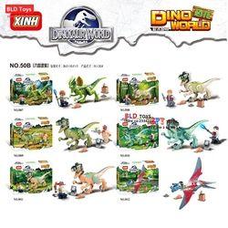 Dinosaur Jurassic dunia rainer Film Tamasya Tyrannosaurus Velociraptor s Blok Bangunan mainan anak juguetes