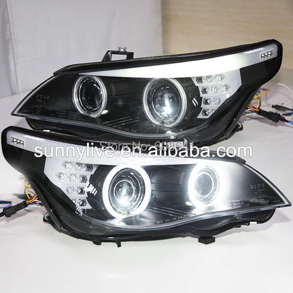 E60 523i 525i 530i Head Light CCFL Angel Eyes 2005-2006Year For BMW original car with HID kit