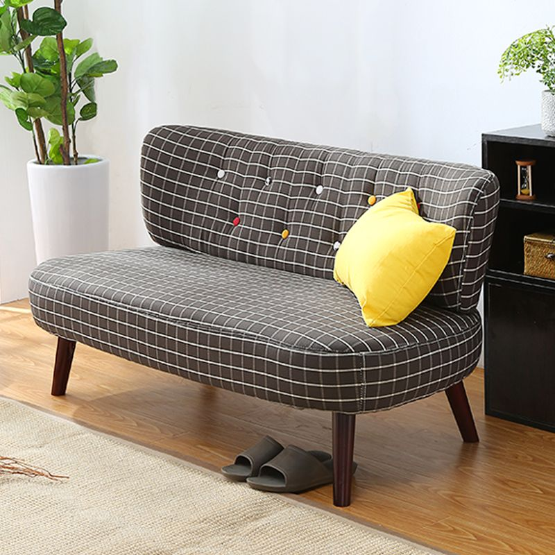 Mid Century Modern Style Sofa Love Seat Colored Button Japanese Style Low Sofa Small for Home Office Living Room Furniture Couch