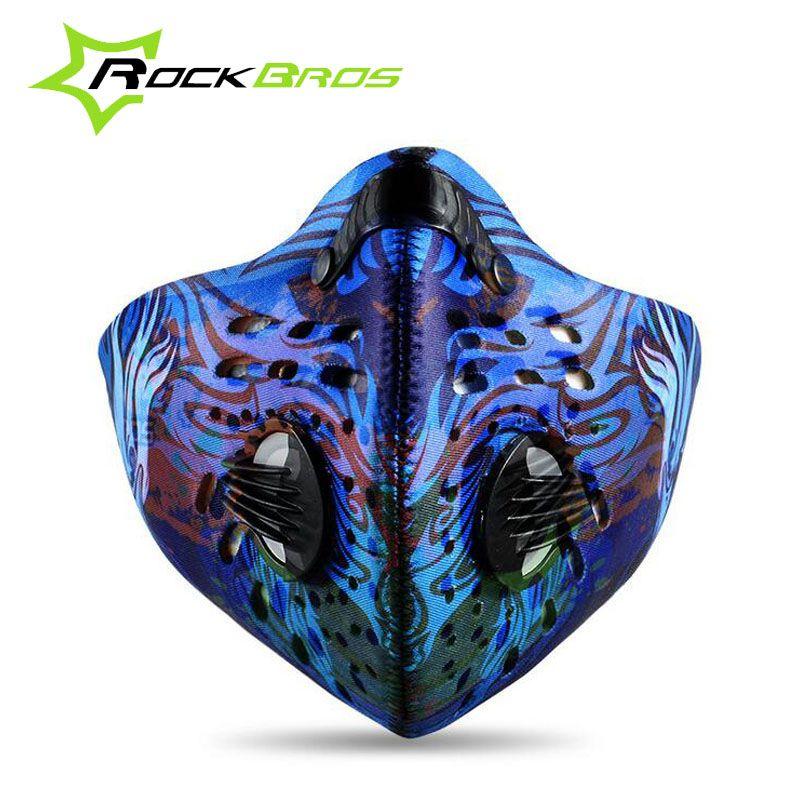 ROCKBROS Antiverschmutzung Sporttraining Maske Smog Radfahren Staubmaske Mtb Fahrrad Gesichtsmaske Laufen Fitness Sport Bike Gesicht Staubmaske