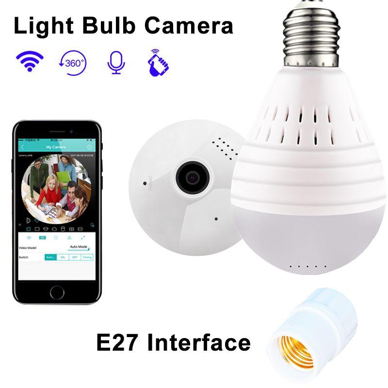 Ampoule lampe Wifi IP caméra 960 P sécurité à domicile caméra sans fil panoramique FishEye soutien 128 GB 360 degrés Vision nocturne