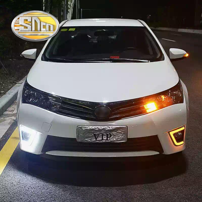 SNCN LED feux de jour pour Toyota Corolla 2014 2015 2016 accessoires de voiture étanche ABS 12 V DRL brouillard lampe décoration