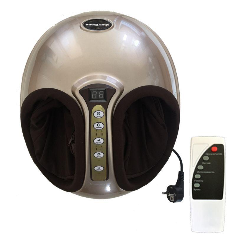 220V Electric Antistress 3D Shiatsu Kneading Air <font><b>Pressure</b></font> Foot Massager Infrared Foot Care Machine Heating & Therapy EU plug