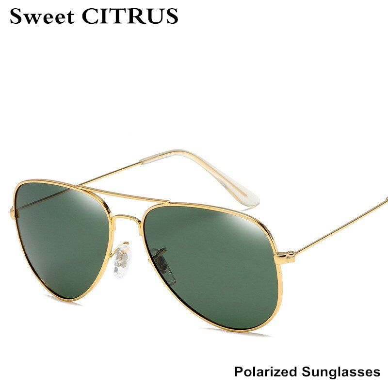 Сладкий цитрусовый Авиатор Солнцезащитные очки для женщин Для мужчин Брендовая Дизайнерская обувь поляризационные точки Защита от солнца ...