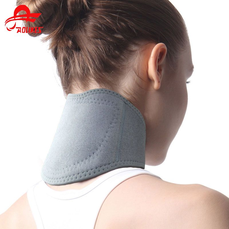 free shipping Self-heating Tourmaline Neck Magnetic Therapy Support Tourmaline Belt Wrap Brace Pain Relief Neck Massager Product