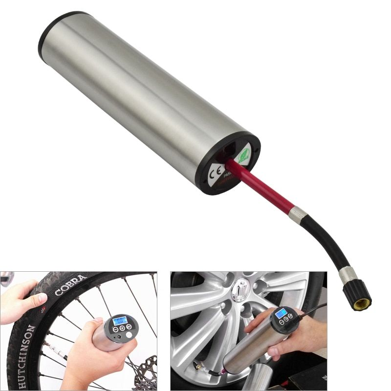 150PIS High Pressure Electric Bicycle Pump LED Light Multifunctional Automatic Inflator for Motorcycle MTB Bike Accessories