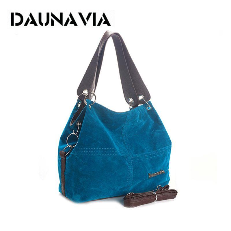 DAUNAVIA marque sac à main femmes épaule sac femelle grand fourre-tout sac souple En Velours Côtelé en cuir sac bandoulière messenger sac pour les femmes 2019