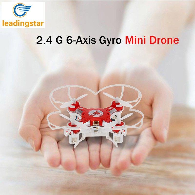 LeadingStar Mini Drone 4 Couleurs Petite Poche Drone FQ777-124 2.4g 6-Axe Gyro 4CH Sans Tête Un Retour Key RTF RC Quadcopter zk10