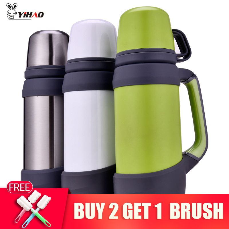 0.8L,1L vacuum flasks thermoses stainless steel big size outdoor travel cup thermos bottle <font><b>thermal</b></font> coffee garrafa termica sport