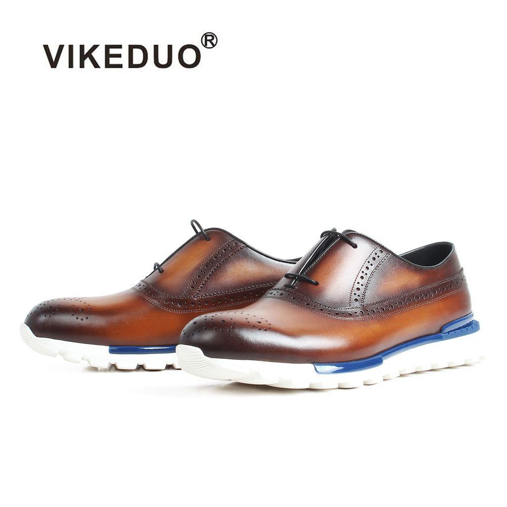 Vikeduo 2019 Sommer Handgemachte Schuhe Männer Designer Wohnungen Schuhe Mode Mann Echtem Leder Sapato Masculino Casual Schuhe Sneaker
