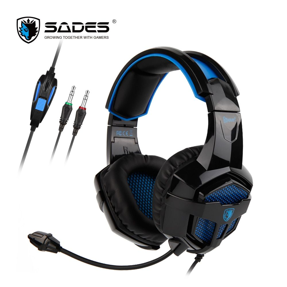SADES BPOWER <font><b>Stereo</b></font> Sound Gaming Headset headphones 3.5mm For Xbox One/PS4/PC/Laptop/Mobile