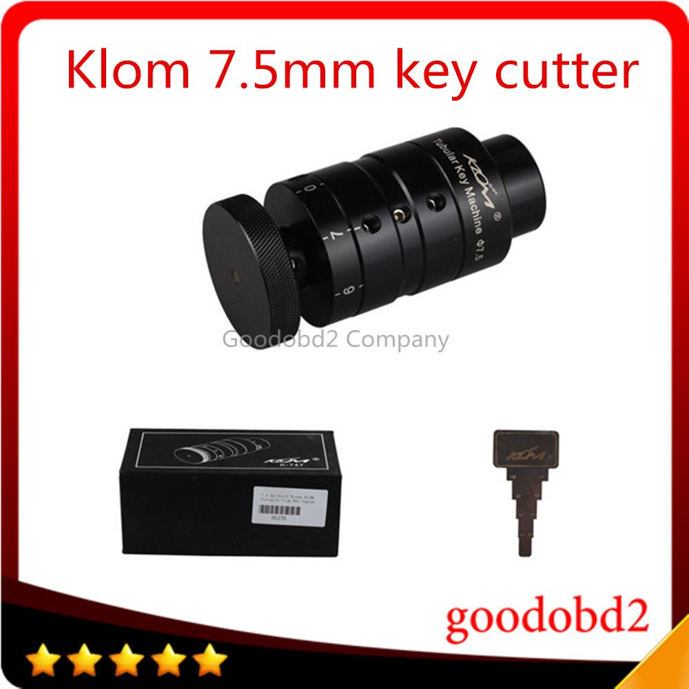 Klom 7.5 mm Tubular Key Cutter Machine KLOM Portable Plum Key Copier Hardware Tool