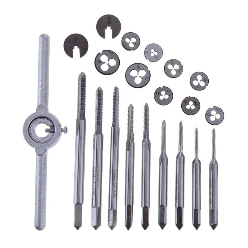 31pcs Metric Tap Threading Die Holder M1-M2.5 Mini High Speed Steel Practical Hand Tool For Woodworking Model Making Watchmaker