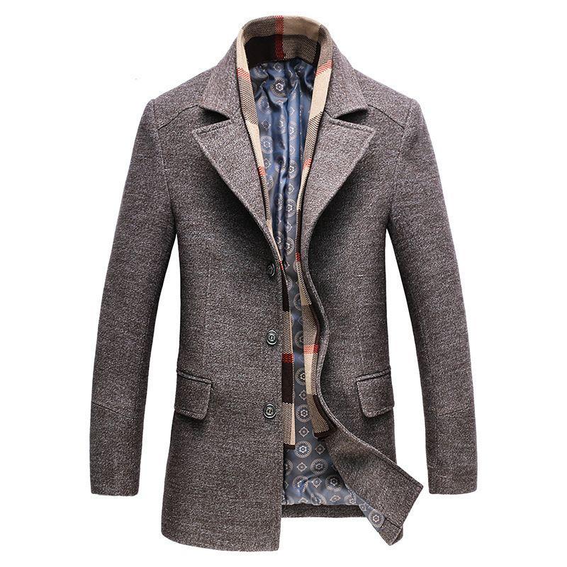 Шерсть высокого класса Для мужчин ветровка Для мужчин пальто оптовая продажа