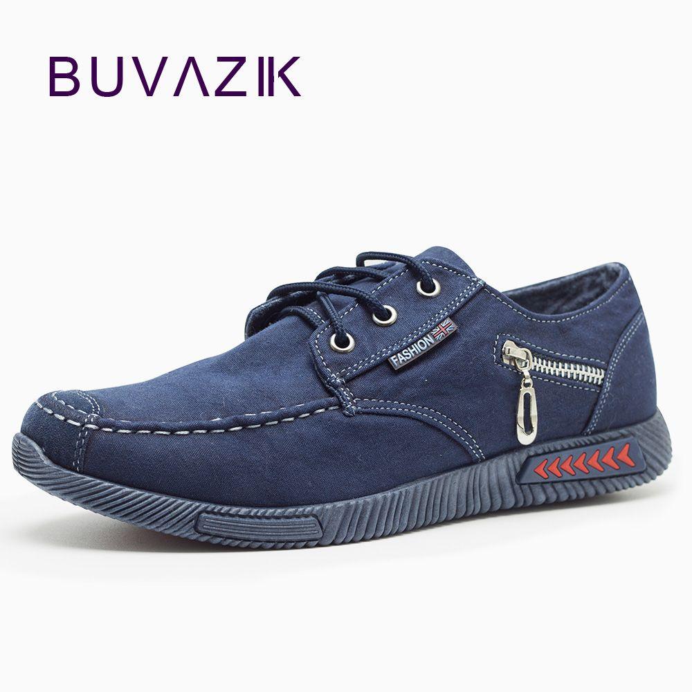 New casual canvas men shoes 2017 hard-wearing rubber classic denim fabric fashion shoes Zipper decoration patchwork size 40-44
