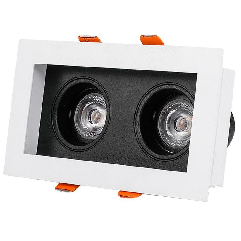 SCON 10 W Doppel kopf LED COB CREE Scheinwerfer eingebettet decke Downlight leichtigkeit wartung kommerziellen beleuchtung 3500 k mond licht
