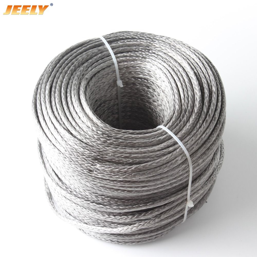 JEELY  Best Quality 3mm 50M 12 Weaves 2000lbs Towing Winch Rope  Spectra