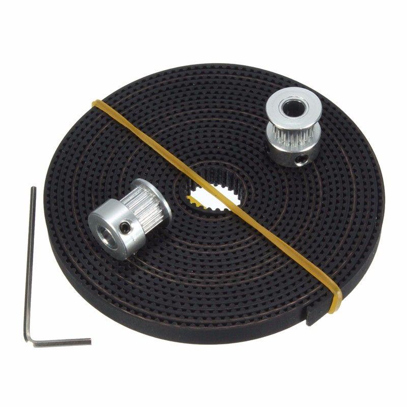 2 STÜCKE 16 zähne GT2 Zahnriemenscheibe 16 T Bohrung 5mm + 3 Meter GT2 Timing Gürtel Gürtel Breite 6mm für 3d-drucker RepRap Prusa