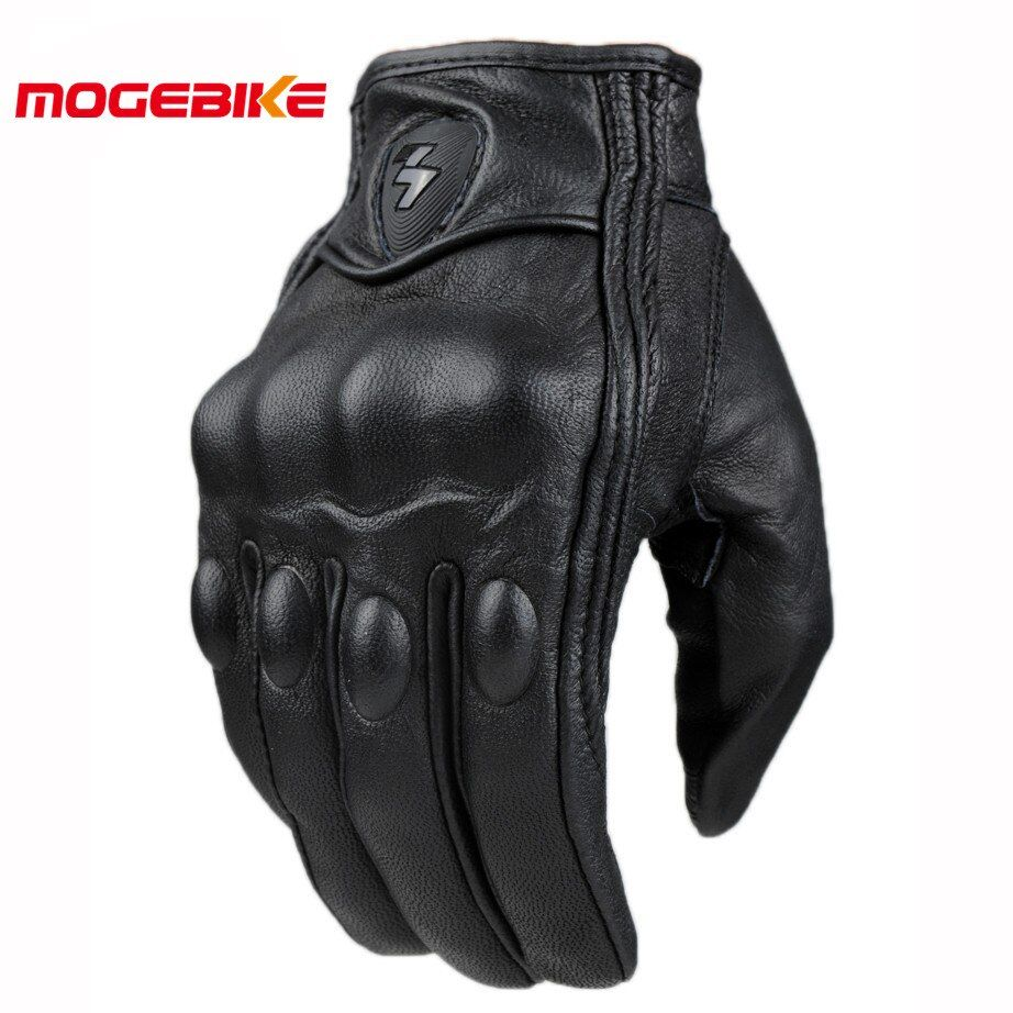 Retro Pursuit Perforated Real Leather Motorcycle Gloves Moto Waterproof Gloves Motorcycle Protective Gears Motocross Gloves gift