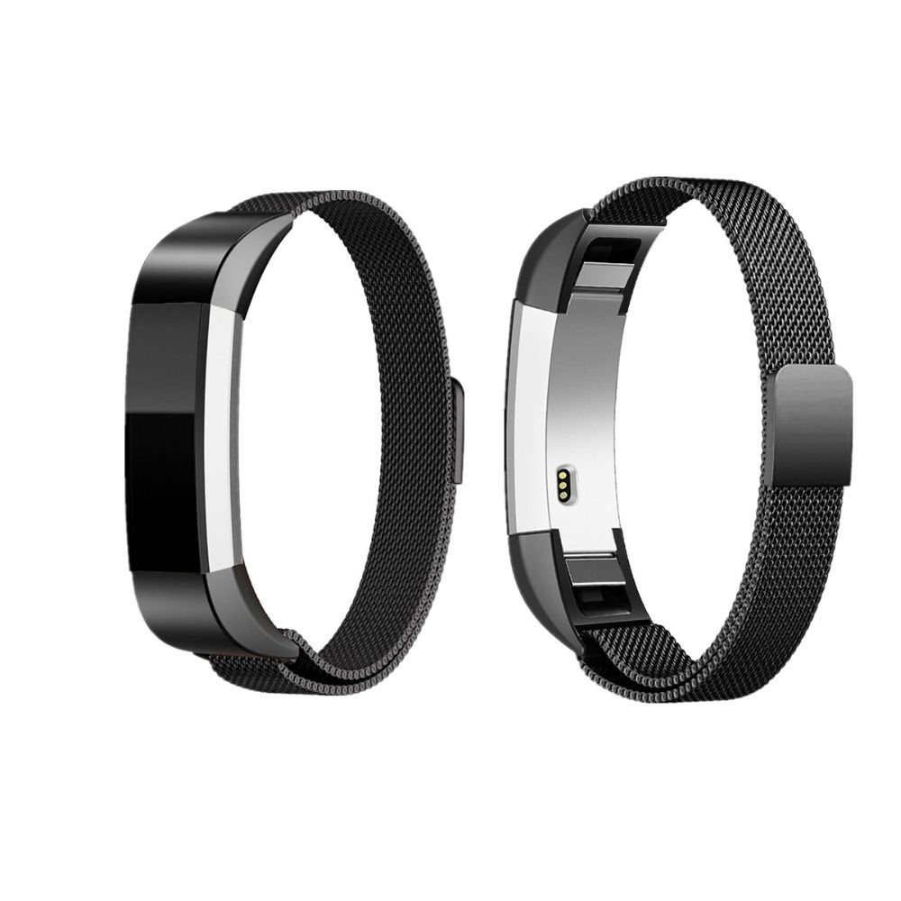 LNOP Milanese loop for Fitbit Alta/fitbit Alta HR band Magnetic Lock wristband replacement  Band Stainless Steel metal Strap