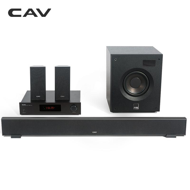 CAV W8 Heimkino 5,1 DTS Bluetooth 4,2 EDR 3 Klangmodi Mini-musikanlage Soundbar Subwoofer Surround-lautsprecher-treiber Kombination Heimkino