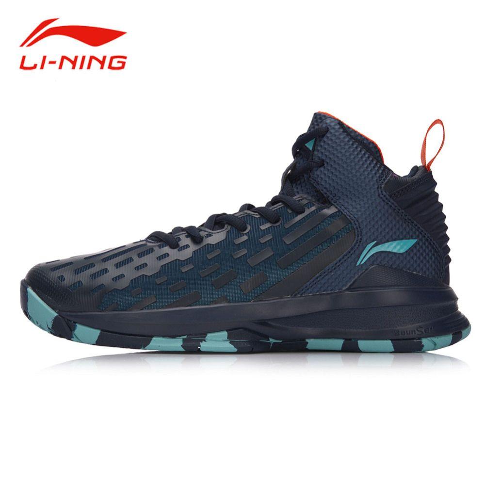 Li Ning Männer DOMINATOR Basketball Schuhe Leder Unterstützung FUTTER Tragbare Sportschuhe Li Ning Breathable Turnschuhe ABPM027