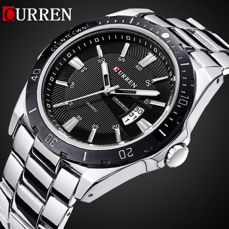 <font><b>2016</b></font> CURREN NEW Fashion Men Sports Watches Quartz Date Clock Man Watch Men's Casual Full Stainless Steel Casual Wrist Watch
