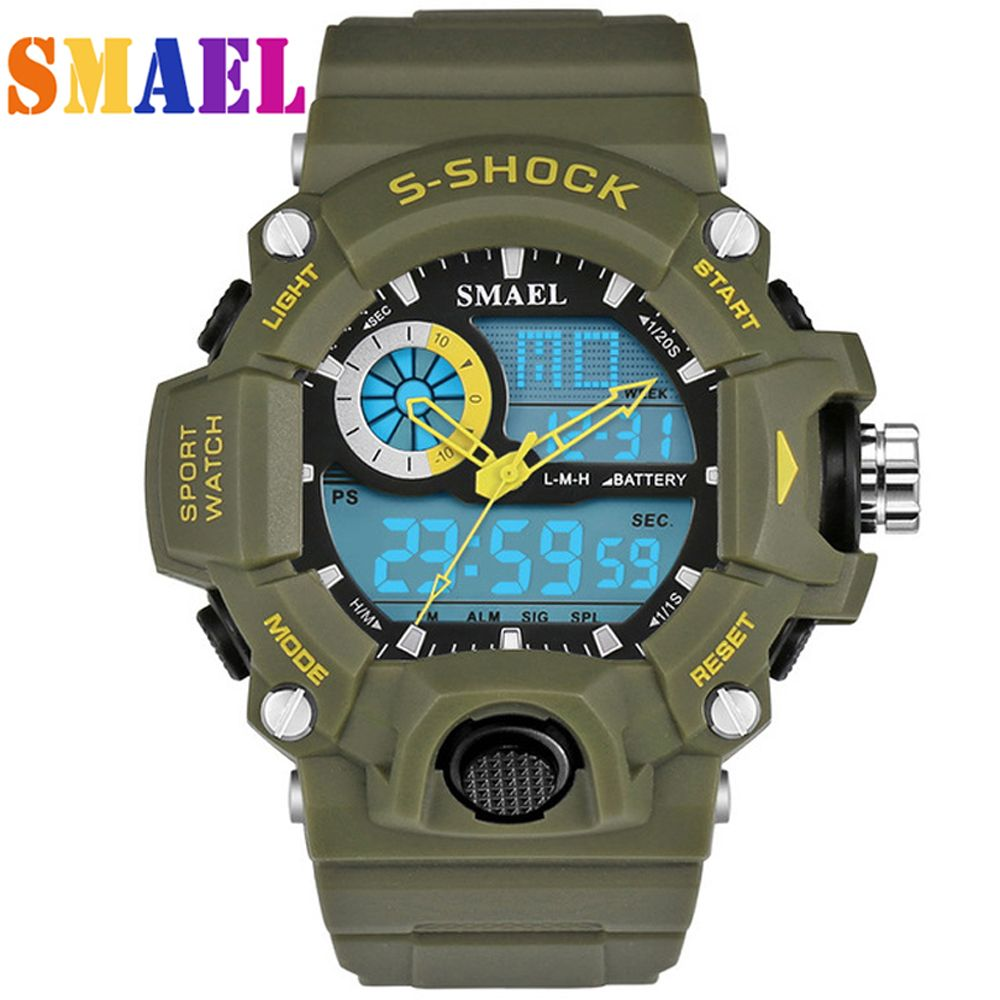 New SMAEL Watches Men G Style Wateproof S Shock Sport Mens Watches Top Brand Luxury LED Digital-watch Military Army Wristwatches