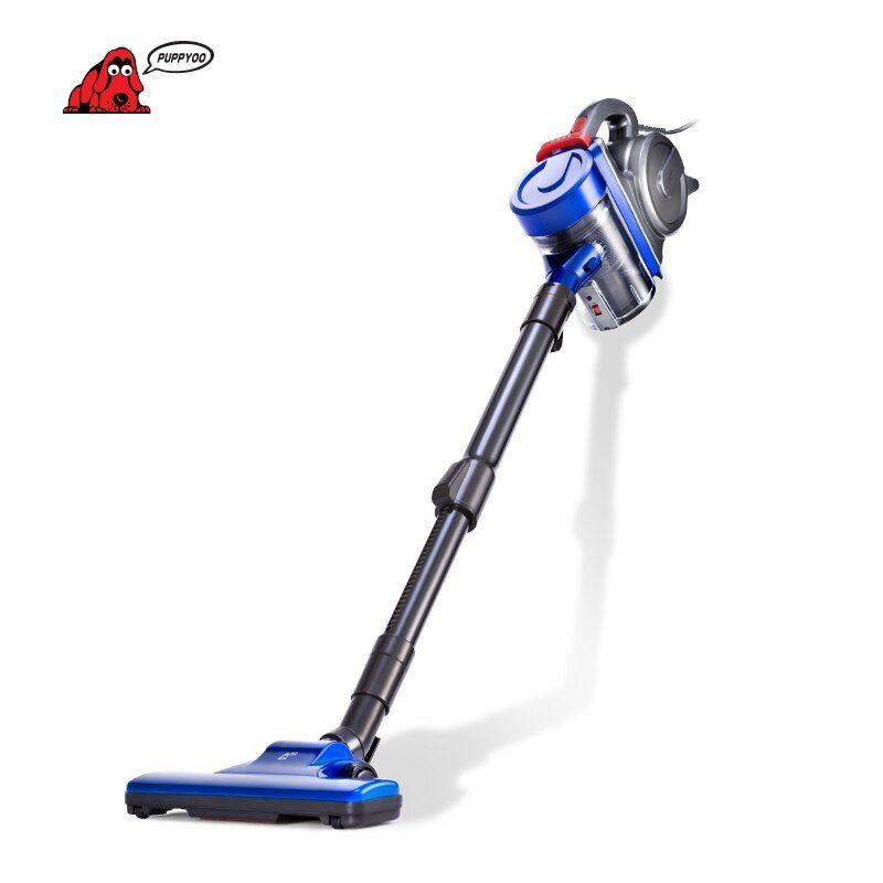 PUPPYOO Low <font><b>Noise</b></font> Home Rod Vacuum Cleaner Handheld Dust Collector household Aspirator Black&Blue WP3009