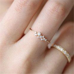 Stilvolle Mode Frauen Ring Finger Schmuck Rose Gold/Splitter/Gold Farbe Strass Kristall Opal Ringe 6/7 /8/9/10 größe Heißer Verkauf