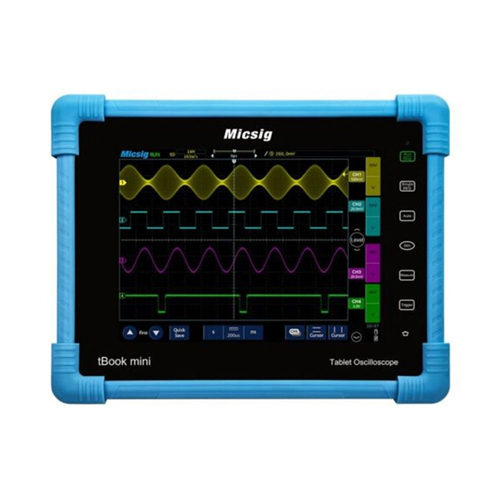 Micsig Digital Tablet Oscilloscope 100MHz 2CH 4CH handheld oscilloscope automotive scopemeter oscilloscope osciloscopio TO1102