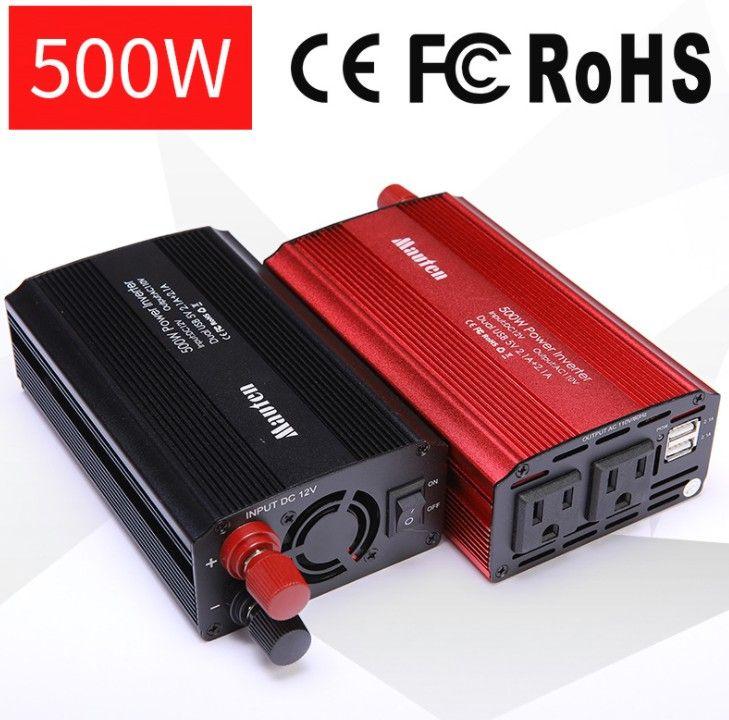 US 500W Inverter Car Inverter Power <font><b>Converter</b></font> Booster With USB 4.2A