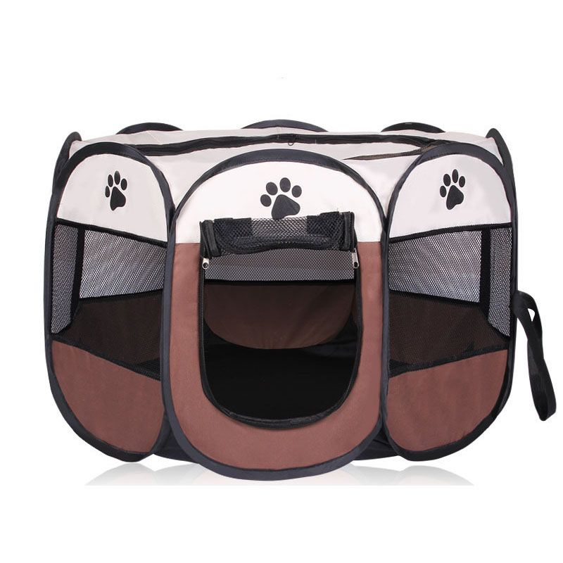 HOT Portable <font><b>Folding</b></font> Pet tent Dog House Cage Dog Cat Tent Playpen Puppy Kennel Easy Operation Octagonal Fence outdoor supplies