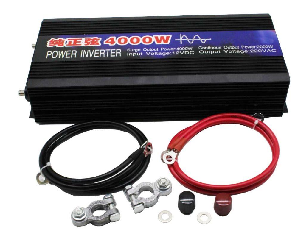 DHL lieferung Reine Sinus Welle Auto Power Inverter 4000 watt Dc12v/24 v Zu Ac 220 v Auto Konverter wechselrichter Für Solar Boot Hause Geräte