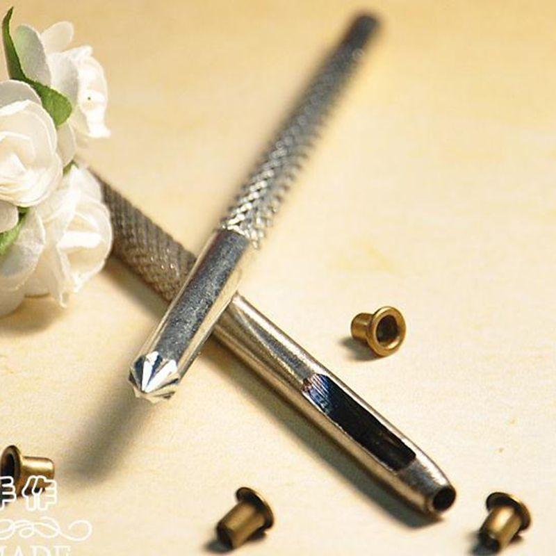 Convient pour Diamètre Intérieur 1mm 1.5mm 2mm Vêtements En Métal Oeillet Album outils D'installation: 1 poinçonnage outil + 1 floraison outil
