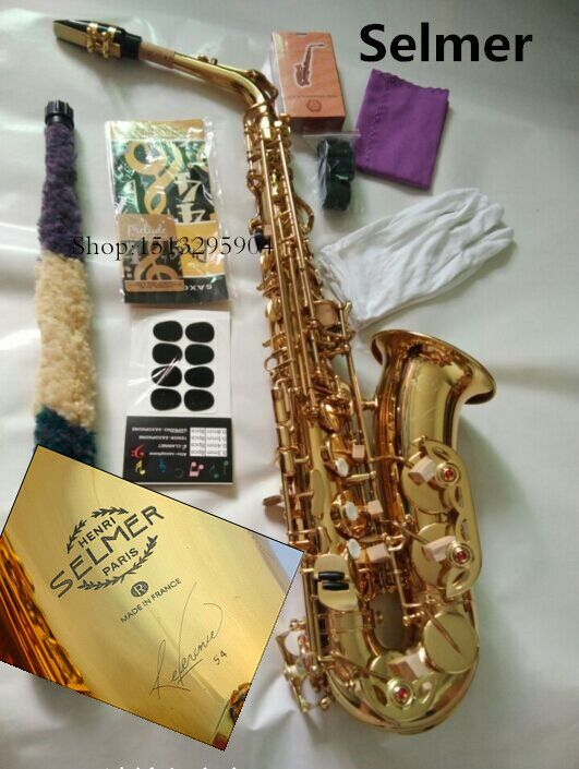 Alto saxophone musical instrument new high quality SELMER 54 saxophone profissional Reference electrophoresis gold Real picture