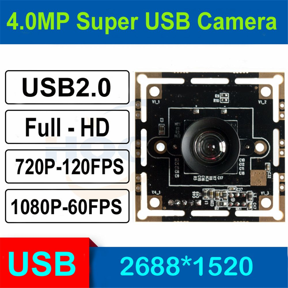 HQCAM 3.0megapixel 1/3 inch OV4689 High Fram Rate USB Camera Module for Android Linux Windows Mac,120fps 720P, 60fps 1080P