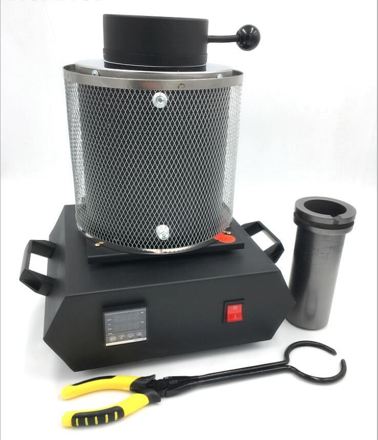220V/110V Electric Jewelry Melting Furnace 1KG/2KG/3KG, Aluminum, Copper, Gold, Lead, Silver, Induction melting ovan furnace
